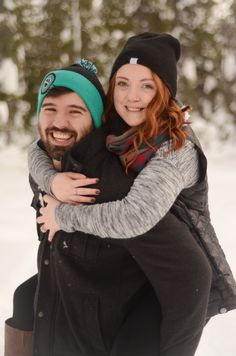 Snow Engagement | Bend, Oregon By: MacKenzie Brown Photography