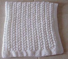 Ravelry: Lace Knit Baby Blanket pattern by Nancy Hearne