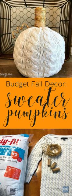 DIY sweater pumpkin!
