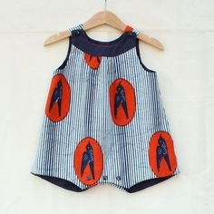 Baby romper for baby boys and baby girls with by MangeToutBaby