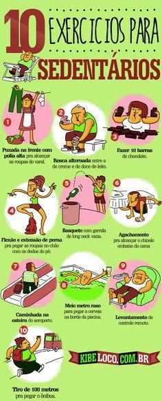TOP EXERCÍCIO PARA OS SEDENTÁRIOS