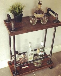 """Outstanding """"bar furniture cabinet"""" information is offered on our site. Check it out and you wont be sorry you did. Diy Bar Cart, Gold Bar Cart, Bar Cart Styling, Bar Cart Decor, Industrial Bar Cart, Industrial Style, Industrial Restaurant, Industrial Chair, Industrial Bedroom"""