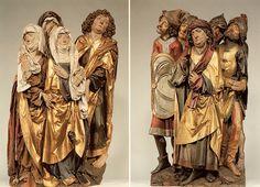 Tilman Riemenschneider, Passion Altarpiece. Mourning women and St. John (left)…
