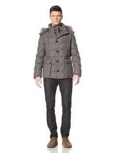 85% OFF Allegri Men\'s Wool Caban Coat with Goose Down (Grey)