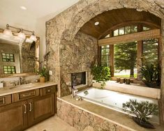 15 Examples of Opulence And Elegance: Bathrooms With Fireplace   DesignRulz.com