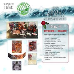 You have to check this out and enter to win! Geek & Sundry is giving away a different prize for 20 days! #D20Giveaway