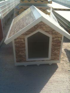 An imitation of stone dog house! Dog Houses, Stone, Dogs, Rock, Pet Dogs, Dog Kennels, Stones, Doggies, Batu