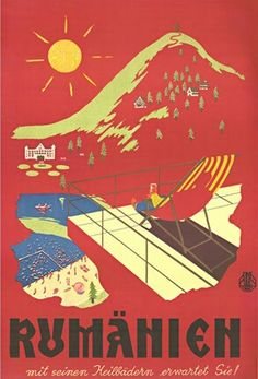 Romania ▪ #Tourism #Poster by Carpati (1960s)