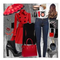 """Rainy Day"" by mila96h ❤ liked on Polyvore featuring Oasis, Steve Madden, Prada, Persol, Givenchy, Kreafunk, Marc Jacobs, L'Oréal Paris, Smashbox and Lipstick Queen"