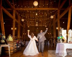 Announcing the new Mr. and Mrs.!!!!!  #wedding #barn #rustic #reception