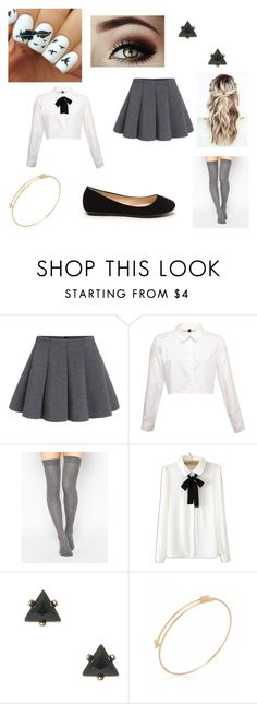 """""""Uniform <3"""" by erin-t13 ❤ liked on Polyvore featuring ASOS and WithChic"""