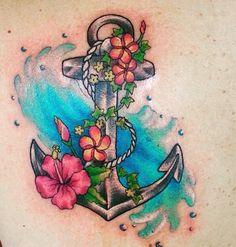Mermaids and Tropical tattoos ... #hawaiiantattoosflower