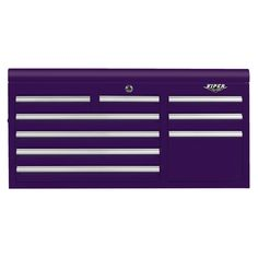 The Original Pink Box – Purple 41-Inch 9-Drawer Chest