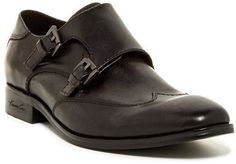 $99, Kenneth Cole New York Oil Monk Strap Oxford. Sold by Nordstrom Rack. Click for more info: https://lookastic.com/men/shop_items/299734/redirect