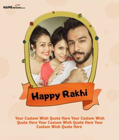 Happy Rakhi Quote With Name and Brother Sister Photo. Happy Rakhi Quote With Name and Brother Sister Photo Brother Sister Photos, Brother And Sister Relationship, Your Brother, Happy Raksha Bandhan Quotes, Happy Raksha Bandhan Wishes, Rakhi Quotes, Raksha Bandhan Photos, Happy Rakhi, Happy Rakshabandhan