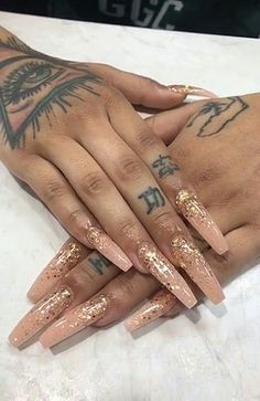 Want to know how to do gel nails at home? Learn the fundamentals with our DIY tutorial that will guide you step by step to professional salon quality nails. Aycrlic Nails, Dope Nails, Prom Nails, Bling Nails, Coffin Nails, Fun Nails, Hair And Nails, Nails 2016, Gorgeous Nails