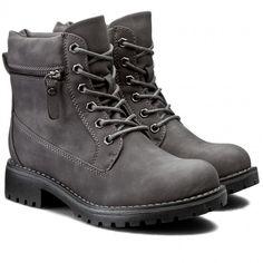Turistická obuv CLARA BARSON - WS722-5 Šedá Timberland Boots, Hiking Boots, Shoes, Fashion, Timberland Boots Outfit, Walking Boots, Moda, Zapatos, Shoes Outlet