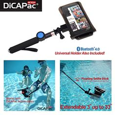 The Original DiCAPac Action Support 5.1 ~ 5.7 inch Mobile Smartphone. Package: Waterproof Case + Selfie Monopod Stick + 4.0 Bluetooth Shutter Fitting Models
