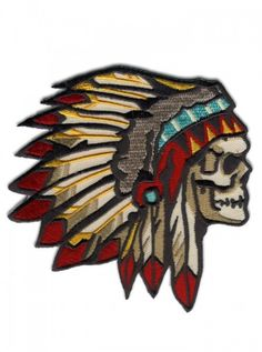 """""""Chief of the Dead"""" Patch by Retro-a-go-go (Multi Color) #inked #inkedshop #inkedmagazine #patch #tribal"""