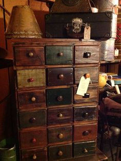 I love this apothecary cabinet. ♥
