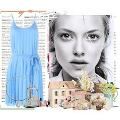 light blue, created by alanna-bowes on Polyvore
