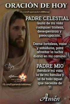 Catholic Prayers In Spanish, Catholic Prayer For Healing, Spiritual Prayers, Prayers For Healing, Mom Prayers, Bible Prayers, Morning Prayers, Spanish Inspirational Quotes, Inspirational Prayers