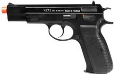 KWA KZ75 Airsoft Gas Blow Back Pistol NS2 Version - Black by KWA. $155.95. KWA KZ75 Airsoft Gas Blow Back Pistol NS2 version  A great Gas Blow Back (GBB) sidearm from KWA. The patented NS2 Gas system increases the performance and improves the overall reliability of the gun. The KZ75 provides a crisp, smooth blow back action. You'll find it nicely weighted and balanced in your hand. KWA products feature a 45-day manufacturer warranty and lifetime tech support!  Mi...