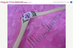 15 OFF HANGERS Bridal Hangers Painted with by OriginalBridalHanger, $21.25