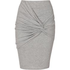Jane Norman Knot detail skirt ($17) ❤ liked on Polyvore featuring skirts, mini skirts, bottoms, clearance, grey, short grey skirt, gray mini skirt, bodycon skirt, body con mini skirt and bodycon mini skirt