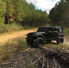 lifted black jeep wrangler unlimited #JEEP http://www.wheelhero.com/topics/Jeep-Wheels-For-Sale