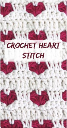 Learn how to crochet heart stitch by following this step by step tutorial + free video guide for beginners. Crochet simple creative baby blanket, hat, pillow, scarf and other DIY valentines day gift projects and ideas for him, kids, friends, her and just fun! Get inspiration for your projects!