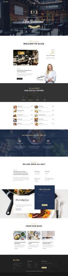 Elisa is clean and modern design premium #Sketch template for Cafe, Winery & #Restaurant website download now➝ https://themeforest.net/item/elisa-restaurant-winery-cafe-sketch-template/17183036?ref=Datasata
