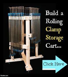 Workshop Rolling Clamp Storage Cart. Free Woodworking Plans. www.rockler.com
