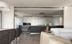 luxury apartment / Lev-gargir Architects #living_room #kitchen #interior design
