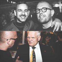 Editor-in-chief of Schön! Magazine Raoul Keil and I. Exhibiting my work with Schön! at the German pre-Olympic party in London on board cruise liner MS Deutschland. #schonmagazine #ship #party #london #fashion #photography #olympics #maddocman #stisen