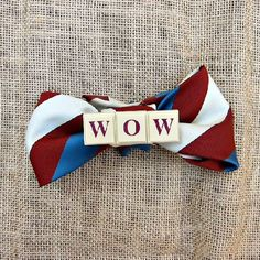 Refashion old ties and game pieces into fun bow ties and other accesories.