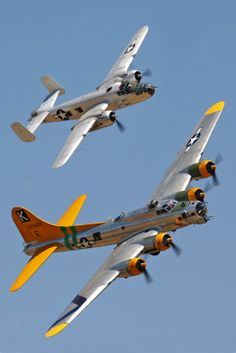 B-17G Flying Fortress and B-25 Mitchell. Photo By Victor G. Archer