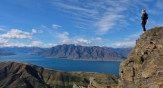 Lake Wanaka, Minaret Bay, New Zealand — by Wings of a Feather. Went #hiking in Wanaka in search for Mt. Isthmus but I got completely lost and ended up on the peak of a totally...