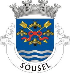 Municipality of Sousel, Portalegre, Portugal (Area Km²) City Logo, Coat Of Arms, Flag, Symbols, Logos, Badges, Flags, Loom Animals, Humor