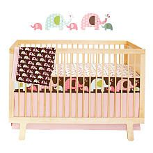 "Skip Hop Complete Sheet 4 Piece Bumper-Free Crib Bedding Set - Pink Elephant - Skip Hop - Babies ""R"" Us"