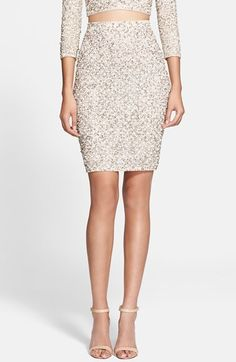 Craving this #Holiday Skirt! Alice + Olivia 'Ramos' Embellished Skirt available at #Nordstrom