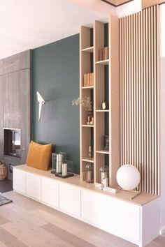 Tv Wall Panel, Plaster Wall Lights, Interior Design Living Room, Interior Decorating, Diy Plaster, Salons Cosy, Home Living, 3d Wall, Decoration