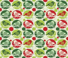 Christmas_Birds fabric by chicca_besso on Spoonflower - custom fabric
