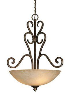 Golden Lighting Heartwood 3 Light Pendant Bowl Gl 8063 3p Bus