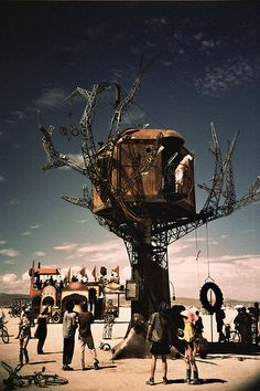 Steampunk Treehouse; Burning Man 2010