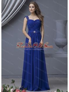 Sweetheart Floor Length Chiffon Beading Pleated Evening Dress With Beaded Straps Vintage Bridesmaid Dresses, Prom Dresses Blue, Pageant Dresses, Homecoming Dresses, Evening Dresses, Glitz Pageant, Graduation Dresses, Dress Prom, Maxi Dresses