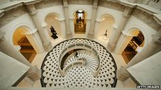 Tate Britain:View of spiral staircase from above. GETTY Image/BBC