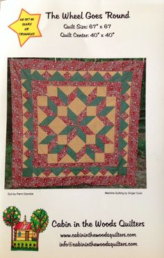 The Wheel Goes Round Quilt Pattern by Lonestarblondie on Etsy