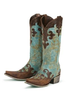 Lane Boot Dawson in Turquoise & Brown