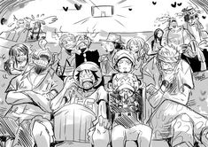 One Piece - Les Pirates regardent un film qui semble émouvant d'après certains. XD
